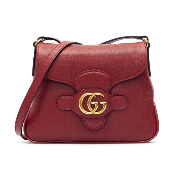 Red shoulder bag with gold double G                                                                                                                   Gucci 648934 back