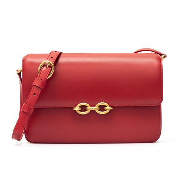 Red shoulder bag with chain detail                                                                                                                    Saint Laurent 649795 back