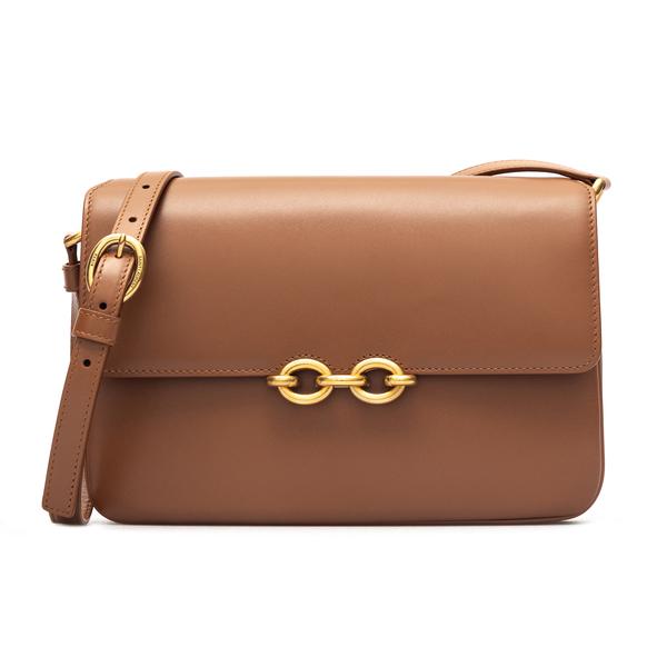 Caramel shoulder bag with gold detail                                                                                                                 Saint Laurent 649795 back