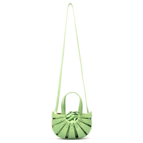 Borsa a spalla verde chiaro con intagli                                                                                                               Bottega Veneta 651819 retro