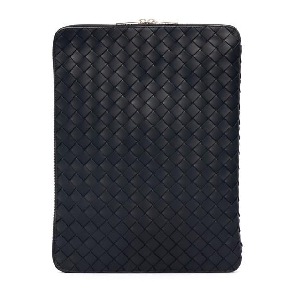 Portadocumenti nero intrecciato                                                                                                                       Bottega Veneta 651866 retro