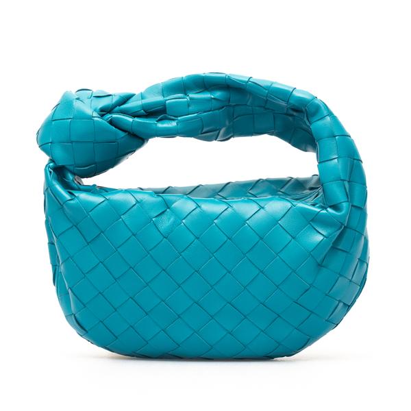 Blue braided mini bag                                                                                                                                 Bottega Veneta 651876 back