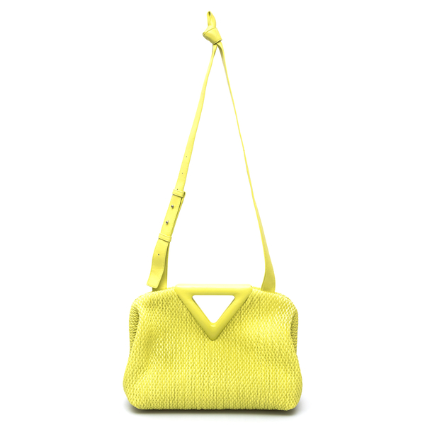 Yellow shoulder bag with V-notch                                                                                                                      Bottega Veneta 658720 back