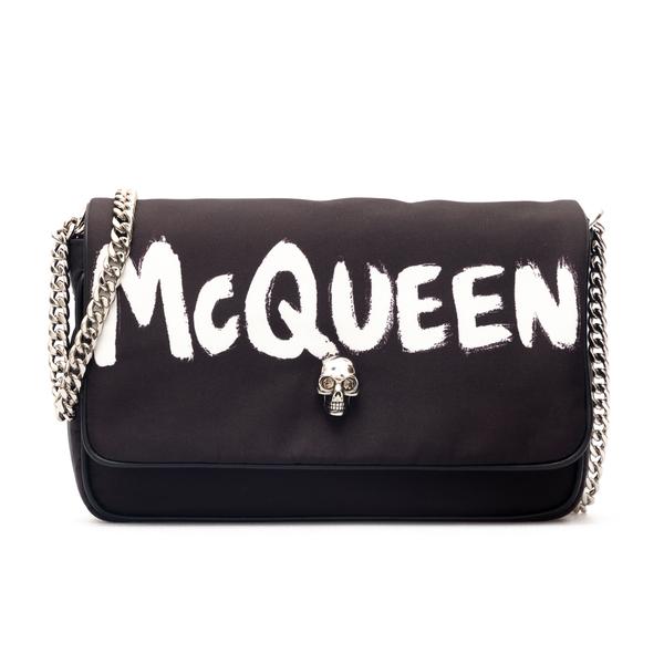 Black shoulder bag with skull                                                                                                                         Alexander Mcqueen 666120 back
