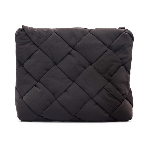 Dark brown woven clutch                                                                                                                               Bottega Veneta 667269 back