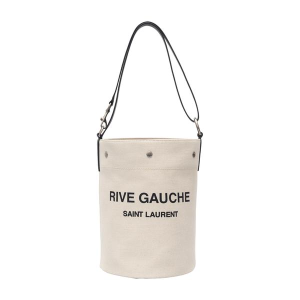 Bucket bag in linen                                                                                                                                   Saint Laurent 669299 back
