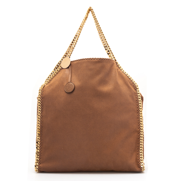 Brown tote bag with gold chain                                                                                                                        Stella Mccartney 700228 back