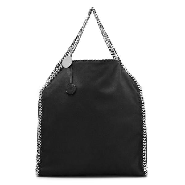 Black tote bag with logo charm                                                                                                                        Stella Mccartney 700228 back