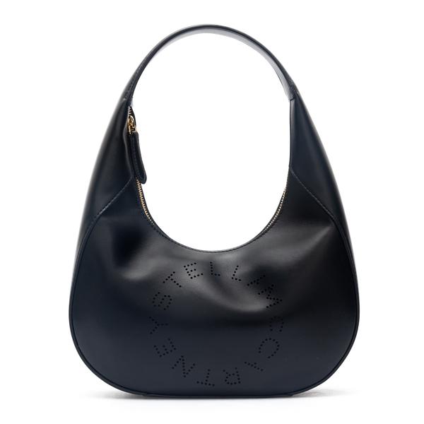 Black shoulder bag with perforated logo                                                                                                               Stella Mccartney 700269 back
