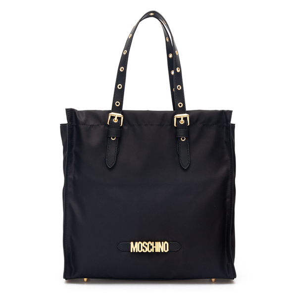 Square tote bag with gold logo                                                                                                                        Moschino 7403 back