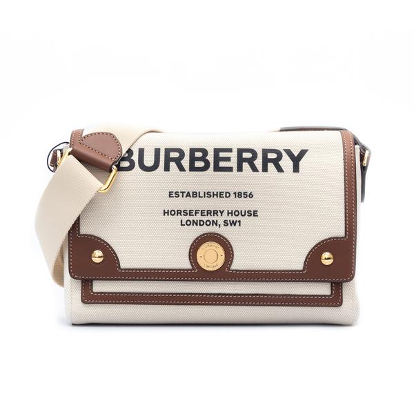 Borsa a tracolla in tela con logo                                                                                                                     Burberry 8030249 retro