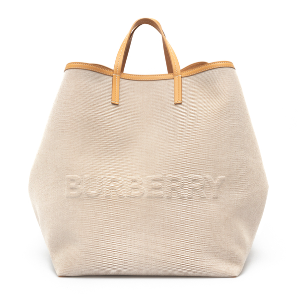 Beige canvas tote bag                                                                                                                                 Burberry 8039079 back