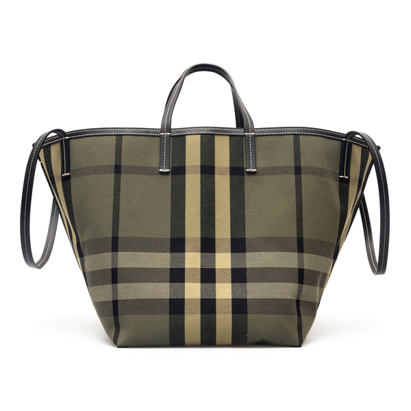 Green checked tote bag                                                                                                                                Burberry 8041850 back