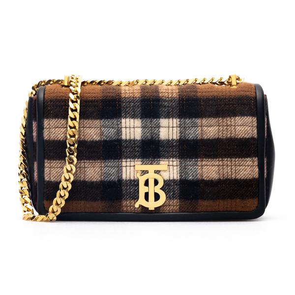 Brown checked shoulder bag                                                                                                                            Burberry 8047025 back
