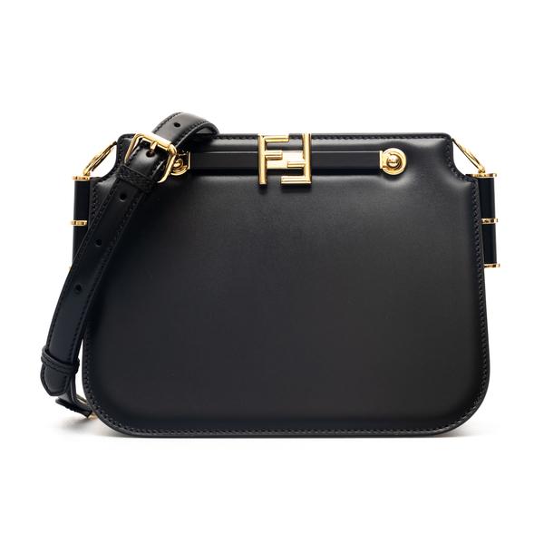 Black gusseted shoulder bag                                                                                                                           Fendi 8BT349 back