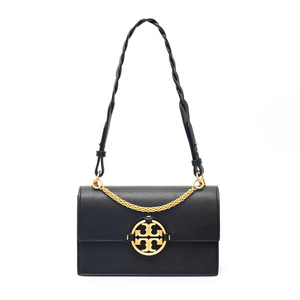 Black shoulder bag with gold logo plaque                                                                                                              Tory Burch 81688 back