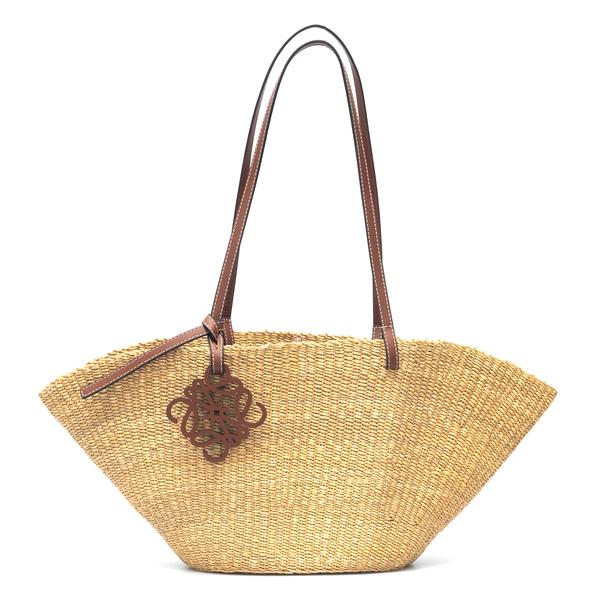 Basket tote bag with logo                                                                                                                             Loewe Paula's Ibiza A223096X02 back