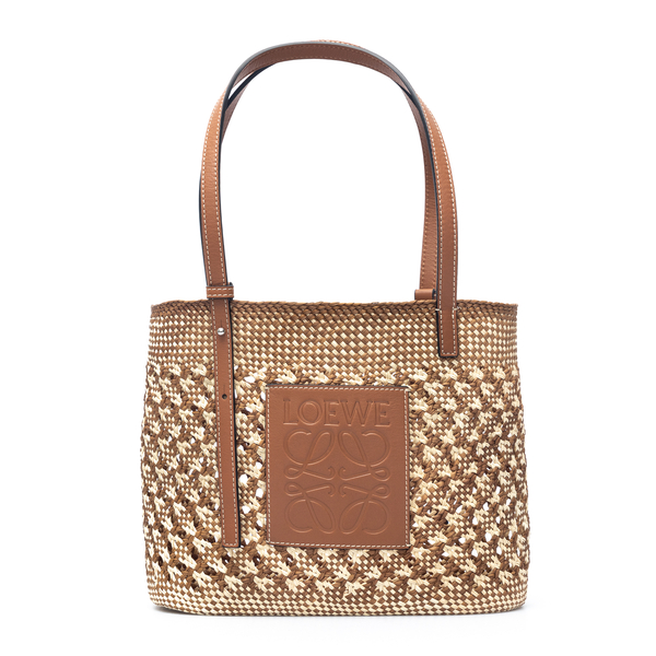 Woven tote bag with leather details                                                                                                                   Loewe Paula's Ibiza A223099X06 back
