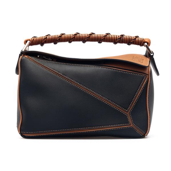 Handbag with geometric carvings                                                                                                                       Loewe A510S21X07 front
