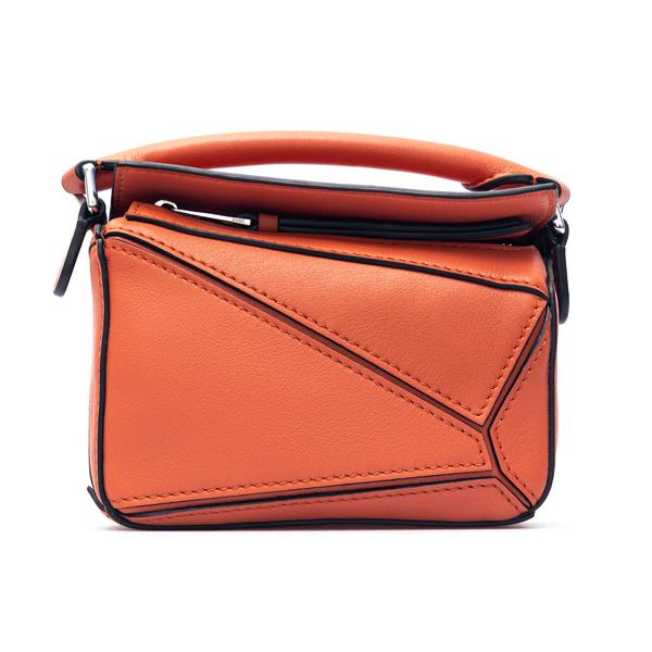 Orange shoulder bag with cutouts                                                                                                                      Loewe Paula's Ibiza A510U98X01 back