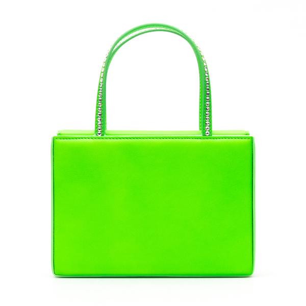 Green mini bag with rhinestones                                                                                                                       Amina Muaddi AMINIGILDA back
