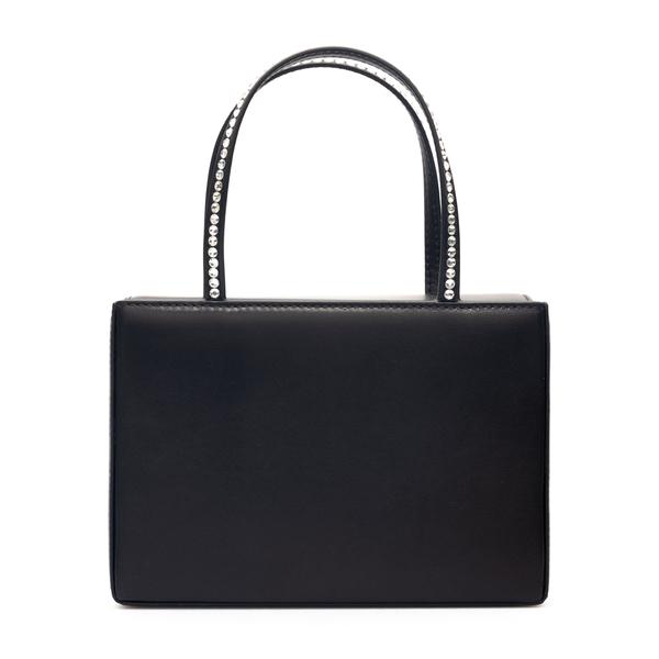 Black mini bag with rhinestones                                                                                                                       Amina Muaddi AMINIGILDA back