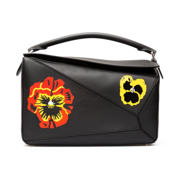 Handbag with flower print                                                                                                                             Loewe B510S19X19 back