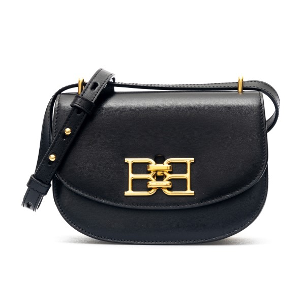 Black shoulder bag with gold logo                                                                                                                     Bally BAILY00 front