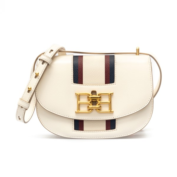 White shoulder bag with two-tone band                                                                                                                 Bally BAILYTSP23 back