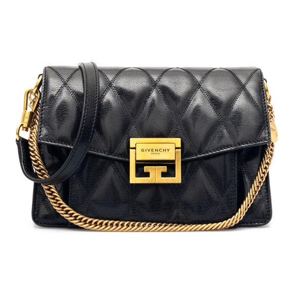 Black quilted shoulder bag with gold plate                                                                                                            Givenchy BB501C front