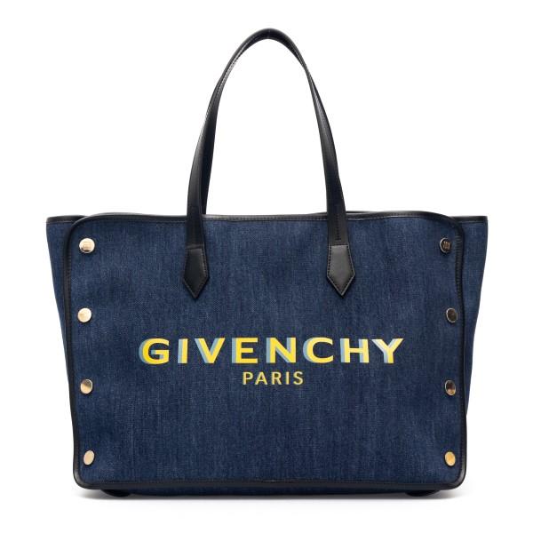 Borsa tote in denim blu con logo                                                                                                                      Givenchy BB50AV_1 retro