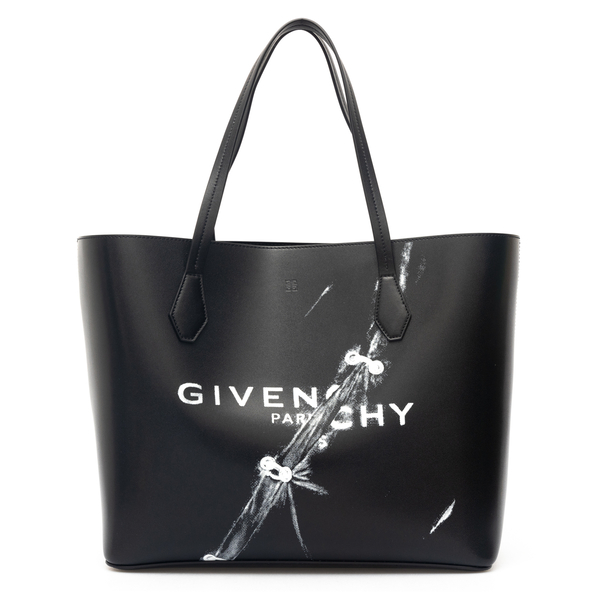 Black tote bag with trompe l'oeil print                                                                                                               Givenchy BB50HB back