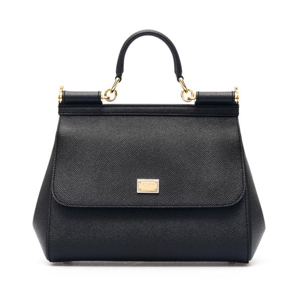 Black handbag with gold plate                                                                                                                         Dolce&gabbana BB6002 back