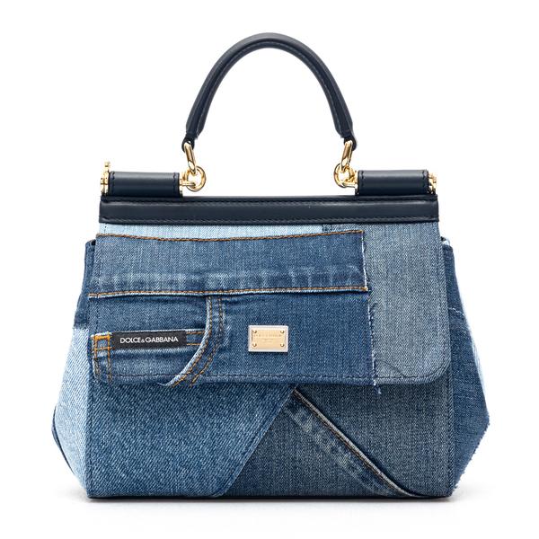 Patchwork-style denim handbag                                                                                                                         Dolce&gabbana BB6003 back