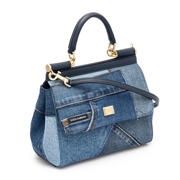 Patchwork-style denim handbag                                                                                                                          DOLCE&GABBANA
