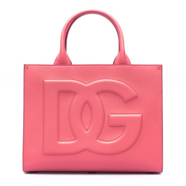 Fuchsia tote bag with logo                                                                                                                            Dolce&gabbana BB7023 back