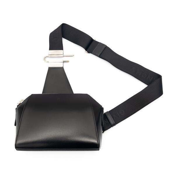 Borsa a tracolla nera con logo                                                                                                                        Givenchy BKU01T retro