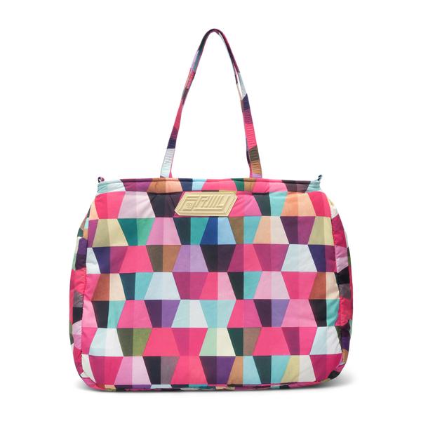 Fuchsia tote bag with geometric print                                                                                                                 Formystudio BPTE back