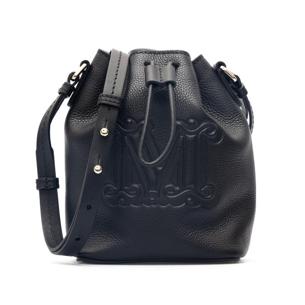 Black bucket bag with embossed logo                                                                                                                   Max Mara BUCKEPV back