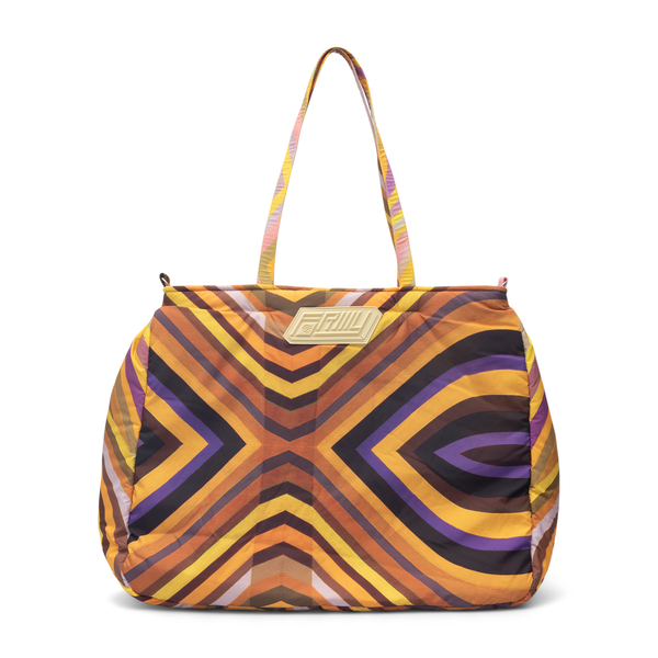 Yellow tote bag with geometric pattern                                                                                                                Formystudio BYCR back
