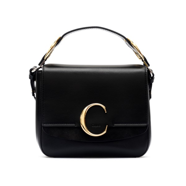 Borsa mini nera con logo oro                                                                                                                          Chloe' C19US193 retro