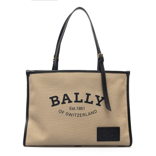 Canvas tote bag with logo print                                                                                                                       Bally CALIENAW back