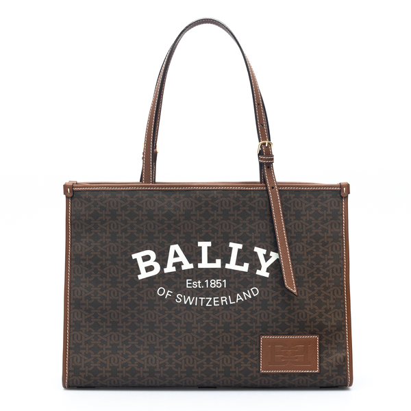 Brown tote bag with brand name                                                                                                                        Bally CALIETML back