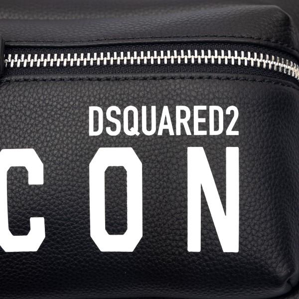 Black shoulder bag with logo print                                                                                                                     DSQUARED2