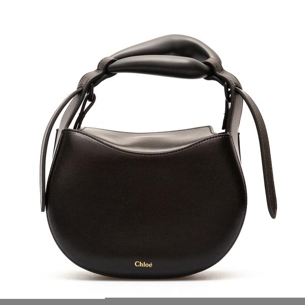 Black handbag with handle                                                                                                                             Chloe' CHC21AS350 back
