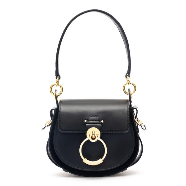 Black shoulder bag with golden ring                                                                                                                   Chloe' CHC18WS153 back
