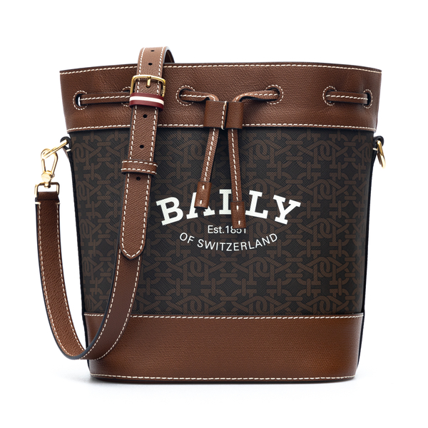 Brown bucket bag with logo                                                                                                                            Bally CLEOHTML back
