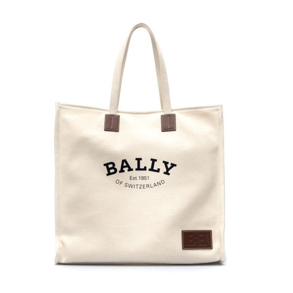 Borsa tote bianca con logo                                                                                                                            Bally CRYSTALIAXLST23 fronte