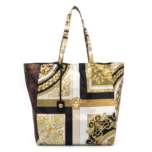 Multicolored tote bag with baroque print                                                                                                              Versace DBFI004 back