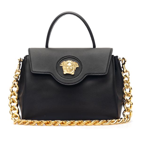 Borsa a mano nera con Medusa in oro                                                                                                                   Versace DBFI039 retro